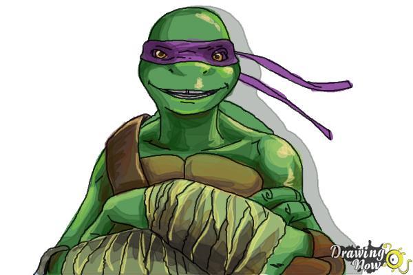 How to Draw Donatello from Teenage Mutant Ninja Turtles ...
