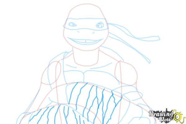 How to Draw Donatello from Teenage Mutant Ninja Turtles 2014, Tmnt - Step 8