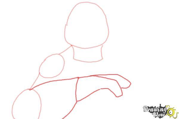 How to Draw Leonardo from Teenage Mutant Ninja Turtles 2014, TMNT - Step 3