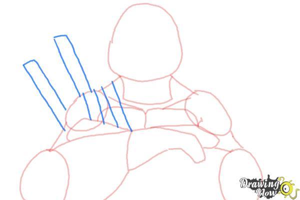 How to Draw Leonardo from Teenage Mutant Ninja Turtles 2014, TMNT - Step 6