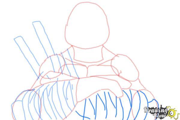 How to Draw Leonardo from Teenage Mutant Ninja Turtles 2014, TMNT - Step 8