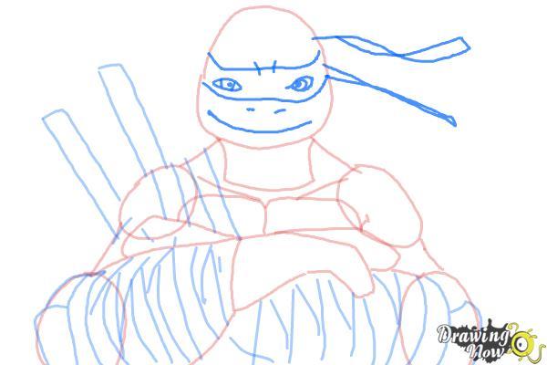How to Draw Leonardo from Teenage Mutant Ninja Turtles 2014, TMNT - Step 9