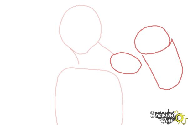 How to Draw Michaelangelo from Teenage Mutant Ninja Turtles 2014, Tmnt - Step 3