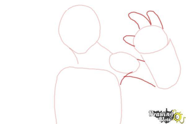 How to Draw Michaelangelo from Teenage Mutant Ninja Turtles 2014, Tmnt - Step 4