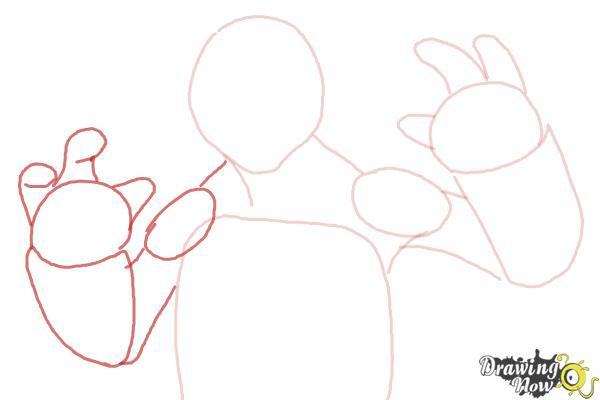 How to Draw Michaelangelo from Teenage Mutant Ninja Turtles 2014, Tmnt - Step 5