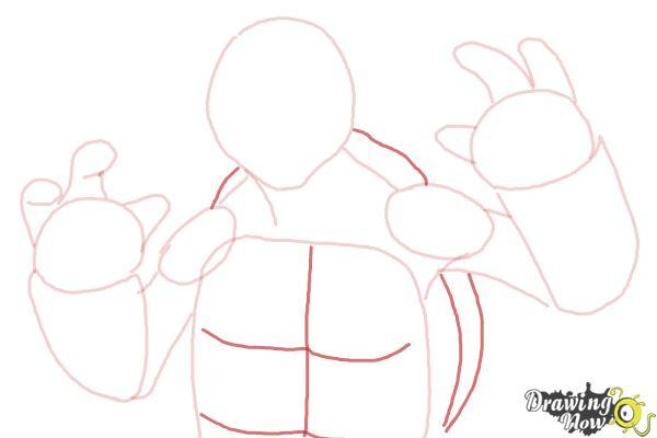 How to Draw Michaelangelo from Teenage Mutant Ninja Turtles 2014, Tmnt - Step 6
