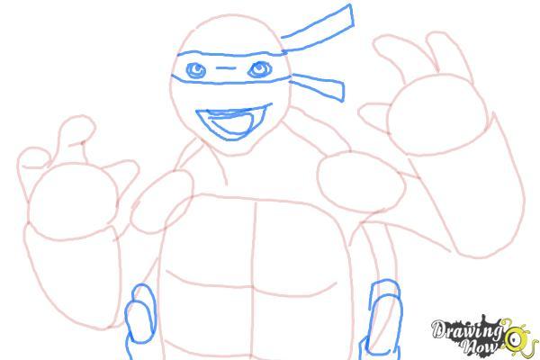 How to Draw Michaelangelo from Teenage Mutant Ninja Turtles 2014, Tmnt - Step 7