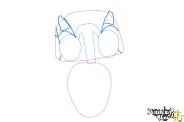 How to Draw Echo from Earth to Echo - Step 3