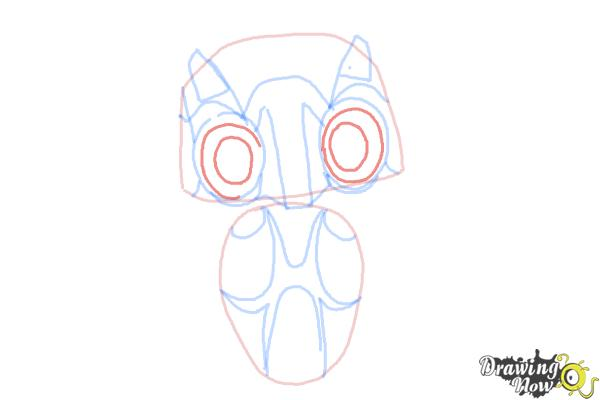 How to Draw Echo from Earth to Echo - Step 6