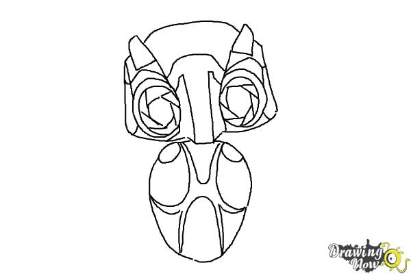 How to Draw Echo from Earth to Echo - Step 7
