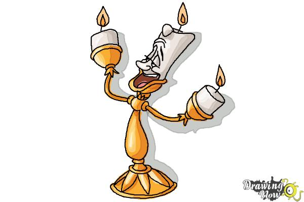 How To Draw Lumiere From Beauty And The Beast Drawingnow