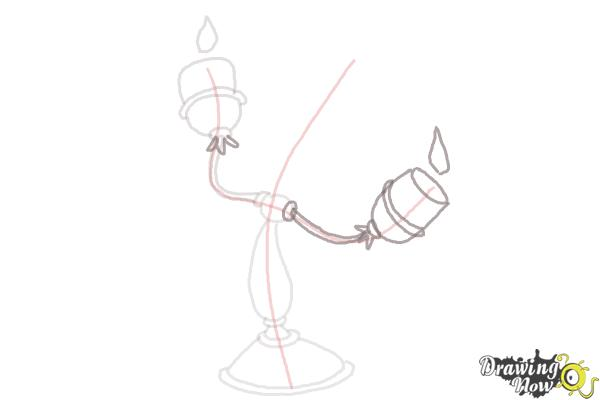 How to Draw Lumiere from Beauty And The Beast - Step 5