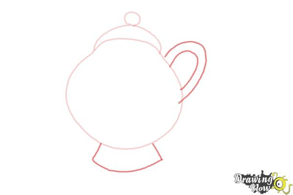 How to Draw Mrs. Potts And Chip from Beauty And The Beast - Step 3