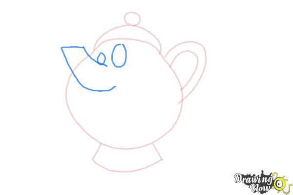 How to Draw Mrs. Potts And Chip from Beauty And The Beast - Step 4