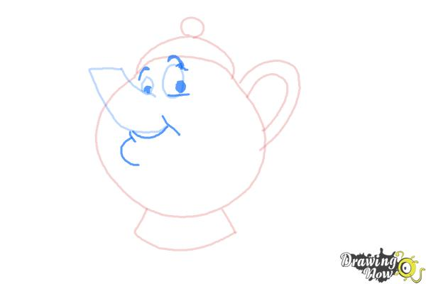 How to Draw Mrs. Potts And Chip from Beauty And The Beast - Step 5