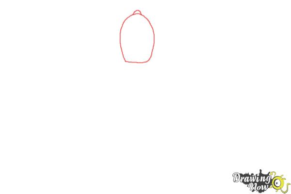 How to Draw Earl Of Lemongrab from Adventure Time - Step 1