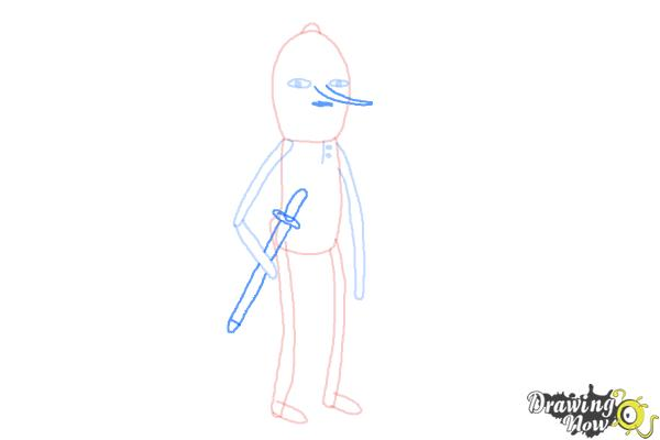 How to Draw Earl Of Lemongrab from Adventure Time - Step 6