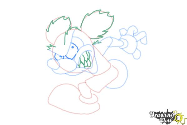How to Draw Runaway Brain, Disney Villain - Step 9