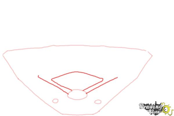 How to Draw The Busch Stadium - Step 3