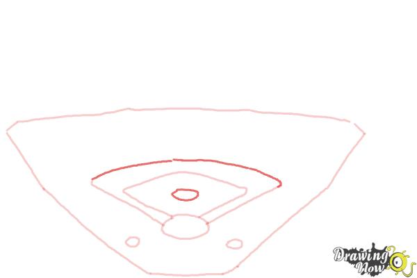 How to Draw The Busch Stadium - Step 4