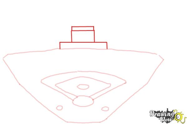 How to Draw The Busch Stadium - Step 5