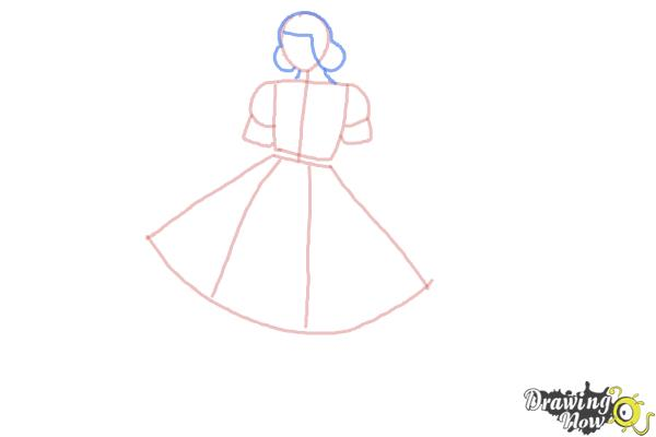 How To Draw A Girl In A Dress Easy Drawingnow