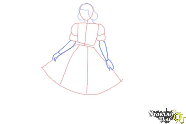 How to Draw a Girl In a Dress Easy - Step 5