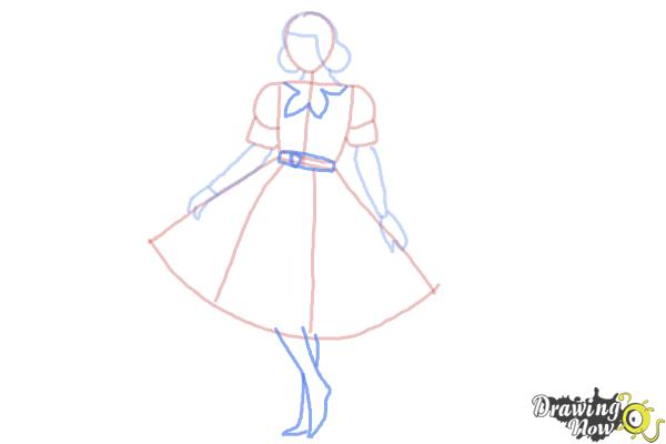How To Draw A Girl In A Dress