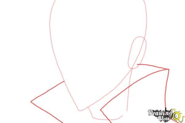 How to Draw Luze Crosszeria from Betrayal Knows My Name - Step 3