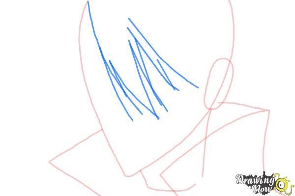 How to Draw Luze Crosszeria from Betrayal Knows My Name - Step 4