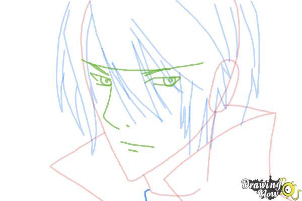 How to Draw Luze Crosszeria from Betrayal Knows My Name - Step 6