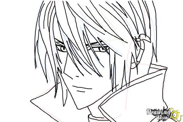 How to Draw Luze Crosszeria from Betrayal Knows My Name - Step 8
