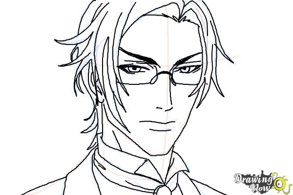 How to Draw Claude Faustus from Black Butler - Step 10