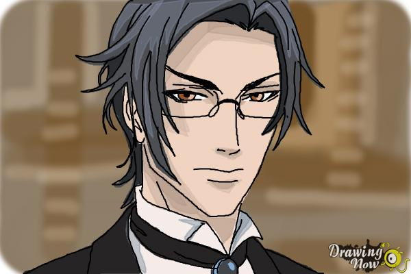 How to Draw Claude Faustus from Black Butler - Step 11