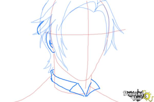 How to Draw Claude Faustus from Black Butler - Step 6