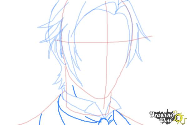 How to Draw Claude Faustus from Black Butler - Step 7