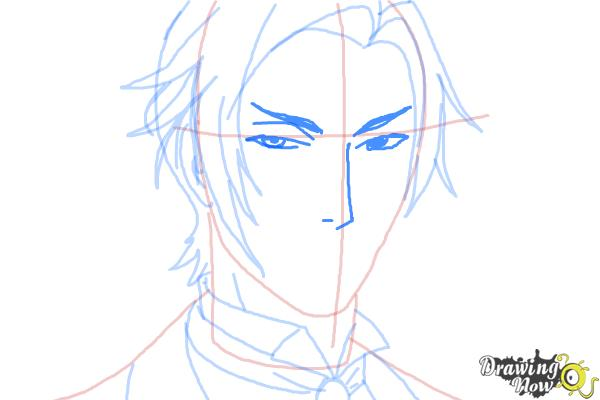 How to Draw Claude Faustus from Black Butler - Step 8