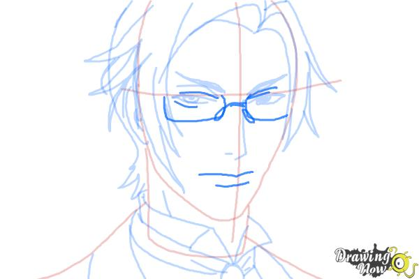 How to Draw Claude Faustus from Black Butler - Step 9