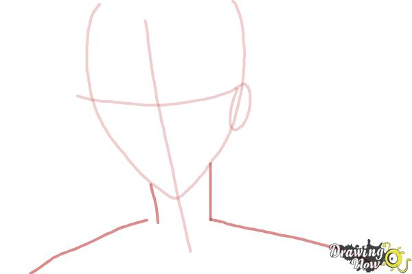 How to Draw Tokiwa from Bloody Cross - Step 3