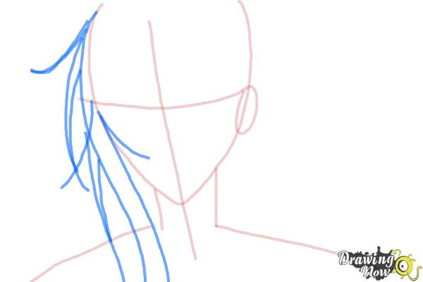 How to Draw Tokiwa from Bloody Cross - Step 4