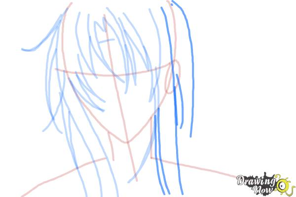 How to Draw Tokiwa from Bloody Cross - Step 6
