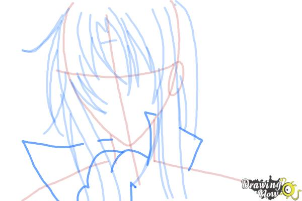 How to Draw Tokiwa from Bloody Cross - Step 7