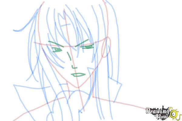 How to Draw Tokiwa from Bloody Cross - Step 8