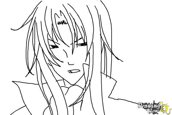 How to Draw Tokiwa from Bloody Cross - Step 9