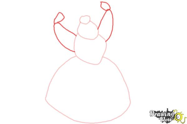 How to Draw Queen Of Hearts, Disney Villain - Step 3