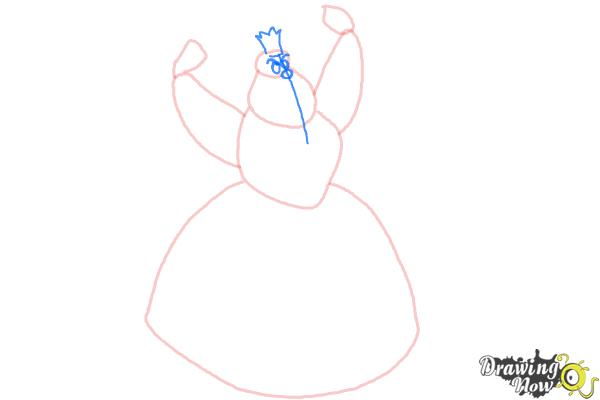 How to Draw Queen Of Hearts, Disney Villain - Step 4