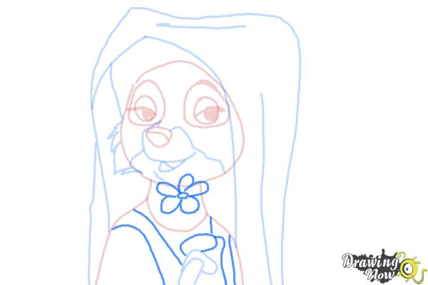 How to Draw Maid Marian from Robin Hood - Step 8