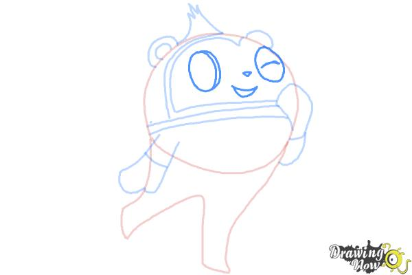 How to Draw Teddie from Persona 4 - Step 6