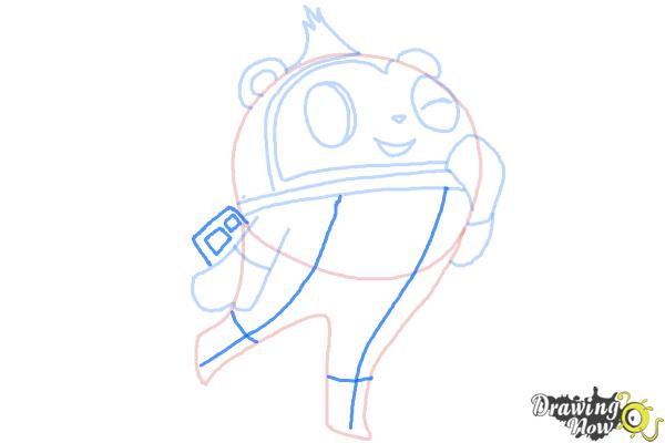How to Draw Teddie from Persona 4 - Step 7