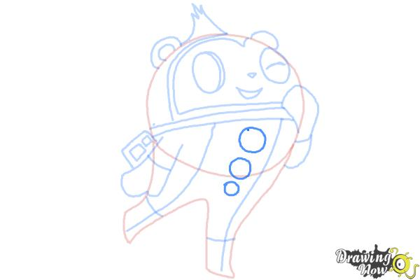 How to Draw Teddie from Persona 4 - Step 8